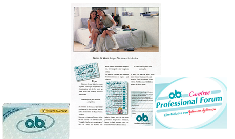 Imagine care conține poza materiale publicitare despre Forumul profesioniștilor pentru a ţine la curent ginecologii şi pediatrii cu aspecte referitoare la pubertate, menstruaţie şi igiena feminină.